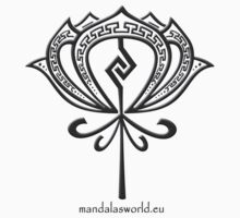 Saint Valentine Aztec Lotus by Mandala's World