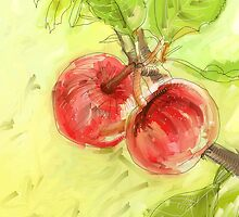 Two Red Apples - 2012 by Sue Flask