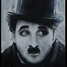 Charlie Chaplin Acrylic  by Jet Treacy