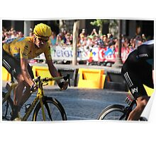 Bradley Wiggins - Tour de France 2012 in Paris Poster