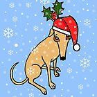 Christmas Greyhound Card by jameshardy