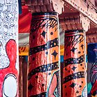 Colorful Columns in Santa Fe by Robert Kelch, M.D.