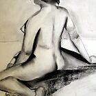 Seated Nude by Marsha Hallet