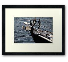 anchor on a sailing yacht Framed Print