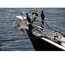 anchor on a sailing yacht Photographic Print