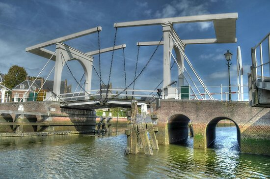 Bridge in Zierikzee by Peter Wiggerman