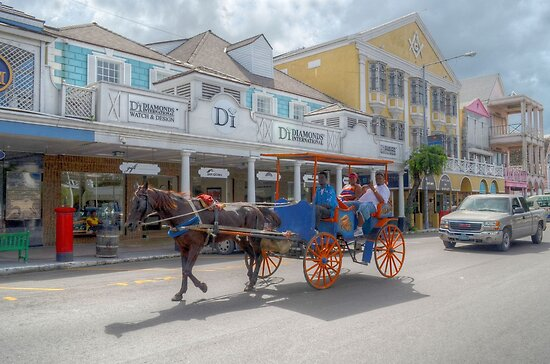 Bay Street in Downtown Nassau, The Bahamas by 242Digital