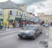 Bay Street & Market Street in Downtown Nassau, The Bahamas by 242Digital