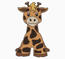 giraffe cute animal by hollytales