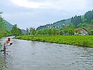 Bosnian River Scene by Graeme  Hyde