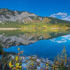 Reflections on Barrier Lake by Yukondick