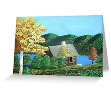 Cottage At The Lake Greeting Card