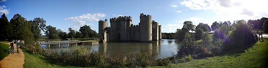Bodiam Castle - Panorama by Lisa Hafey