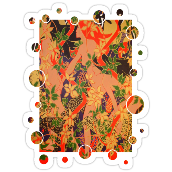 Goddess of The Hunt In Ornate Gold Border by taiche