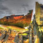 Wrecks at Fleetwood Marsh by Darren Kitchen