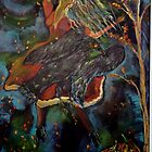 Raven Dancing Under Harvest Moon by eoconnor
