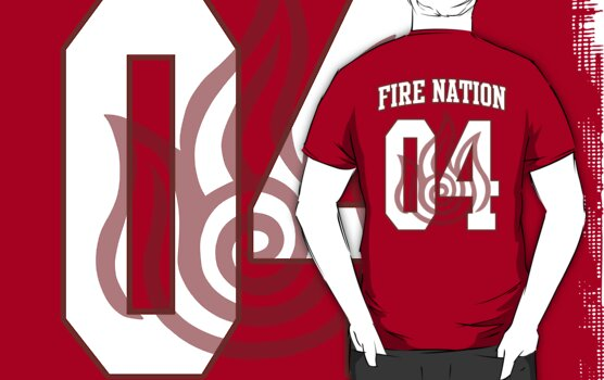 Fire Nation Jersey #04 by iamthevale