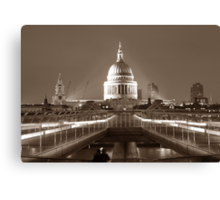 Millenium Bridge / St. Pauls, London, England, UK * Canvas Print