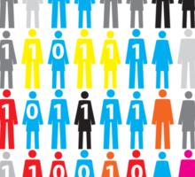 human silhouette one world design Sticker