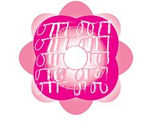 sweet flower pink graphic design by Veera Pfaffli