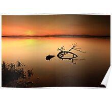 Loch Leven Sunset Poster