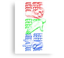 rock paper scissors game design Canvas Print