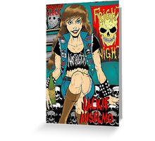 Jackie Anselmo - Headbanger Chick Greeting Card