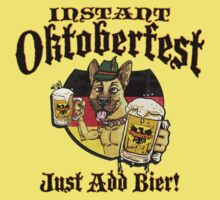 Oktoberfest German Beer Hound  by MudgeStudios