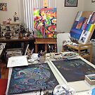 My studio - yesterday by Karin Zeller