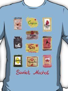 Soviet Alcohol Labels T-Shirt