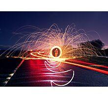 Neon Road Photographic Print