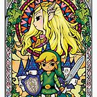 Stain Glass Zelda by spyderjava