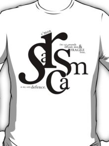 """Sarcasm is my only defense"" - Stiles Stilinski T-Shirt"