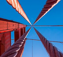 Golden Gate Cabels by Radek Hofman