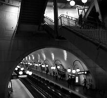 Travel BW - Paris Cite Metro Station by lesslinear
