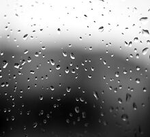 Window Pane Rain by KAGPhotography