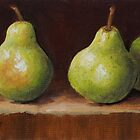 Three Pears by karenhetzer