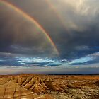 Rainbow over Badlands National Park by Alex Preiss