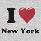 I Heart / Love New York by HighDesign