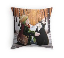 Finding Happy Throw Pillow
