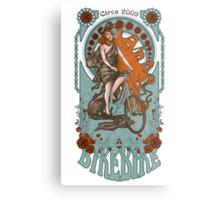 BikeBike Nouveau Metal Print