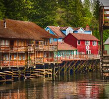 Creek Street - Ketchikan Alaska by circleMstudios