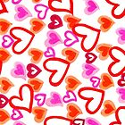 Doodle Hearts (iPhone / iPod Case) by Sammy Nuttall