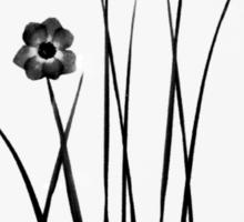 Kathie McCurdy Zen Black & White Flowers Sticker