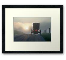 Into the Morning Mist Framed Print