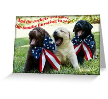 4th of July Trio! Greeting Card