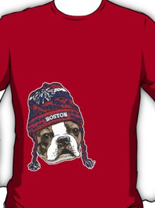 Boston Terrier Red Beanie T-Shirt