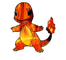 Fire-y charmander  Photographic Print