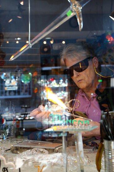 Glassblower, Lake Placid New York by Debbie Pinard
