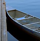 Canoe at Sundown - Lake Placid New York by Debbie Pinard